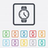 stock photo of wrist  - Wrist Watch sign icon - JPG