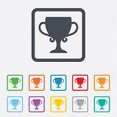 stock photo of winner  - Winner cup sign icon - JPG