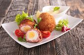 stock photo of scotch  - scotch egg - JPG