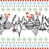 image of christmas bells  - Christmas background - JPG