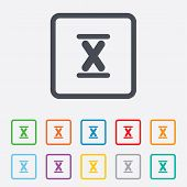 stock photo of ten  - Roman numeral ten sign icon - JPG