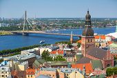 picture of doma  - Aerial view of Riga - JPG