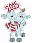 foto of goat horns  - Christmas goat  hold on the horn symbol 2015 - JPG