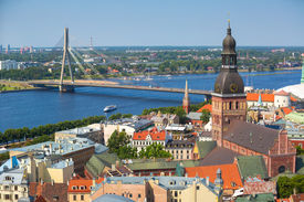 foto of doma  - Aerial view of Riga - JPG