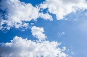 picture of peaceful  - Beautiful cloudy sky background - JPG