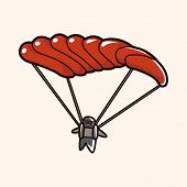 picture of hang-gliding  - Hang Gliding Theme Elements Vector - JPG