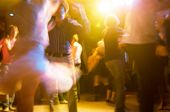image of dancing  - People dancing at the party abstract blur background with bokeh - JPG