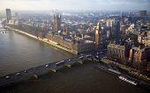 stock photo of westminster bridge  - Houses of Parliament and Westminster bridge in London - JPG