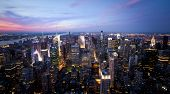 picture of empire state building  - New York sunset skyline taken from the Empire State Building  - JPG