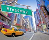 picture of broadway  - Colorful Broadway sign over Times Square background - JPG