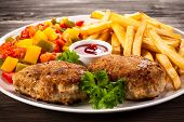 picture of french fries  - Fried chops - JPG