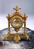 picture of running-late  - Antique French gold clock made in the late 1800 - JPG
