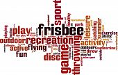 picture of frisbee  - Frisbee word cloud concept - JPG