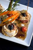image of sole  - Sole fillet caviar vegetables and mashed potatoes - JPG