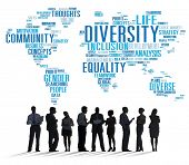 image of racial diversity  - Diversity Ethnicity World Global Community Concept - JPG