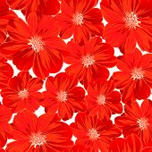 pic of small-flower  - Small red flowers in a seamless pattern  - JPG