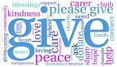 picture of give thanks  - Give word cloud on a white background - JPG
