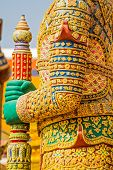 picture of guardian  - Body of Guardian statue at Temple of the Emerald Buddha - JPG