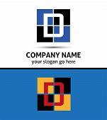 stock photo of letter d  - Abstract icon logo for letter D design - JPG
