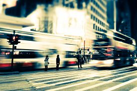 foto of street-art  - Abstract cityscape blurred background art toning - JPG