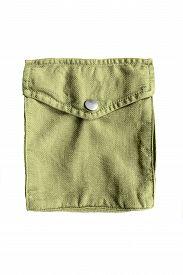picture of khakis  - Khaki textile pocket isolated on white background - JPG