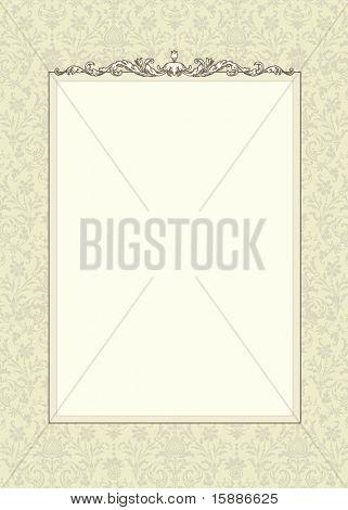 Постер, плакат: Вектор рама и бесшовные модели, холст на подрамнике
