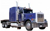 picture of semi-truck  - Big purple semi truck on isolated background - JPG