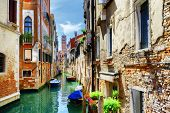 The Rio Di San Cassiano Canal And Medieval Houses, Venice, Italy poster