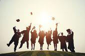 Graduation College School Degree Successful Concept poster