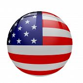 picture of usa flag  - Interface glassy orb button with United States Flag - JPG
