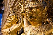 picture of glorify  - Golden Garuda face decoration in The temple of Emerald Buddha - JPG