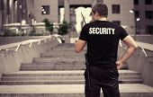Male security guard, outdoor poster
