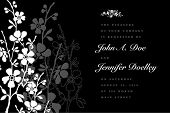 image of wedding invitation  - Vector ornate floral background with sample text - JPG