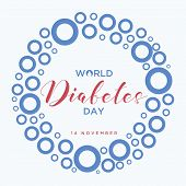 World Diabetes Day Banner With A Blue Circle Symbol Of World Diabetes Day. Concept Design Of The Day poster