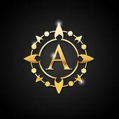 Vintage Old Style Logo Icon Monogram. Letter A Logo. Royal Hotel, Premium Boutique, Fashion Logo, Su poster