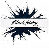 Black Friday, Big Sale, Black Ink Splach poster
