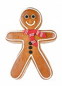 stock photo of gingerbread man  - Smiling gingerbread man - JPG