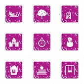 Great Change Icons Set. Grunge Set Of 9 Great Change Vector Icons For Web Isolated On White Backgrou poster