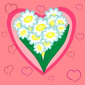 pic of pinky  - floral heart - JPG
