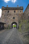 stock photo of square mile  - Edinburgh Castle Portcullis gate - JPG