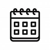 Calendar Icon Isolated On White Background. Calendar Icon In Trendy Design Style. Calendar Vector Ic poster