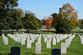 foto of arlington cemetery  - Arlington National Cemetery in Arlington County Virginia is a military cemetery in the USA - JPG
