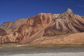pic of manali-leh road  - Arid mountains of the Himalaya on the high altitude road between Manali and Leh in Ladakh India