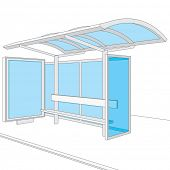 pic of bus-shelter  - Bus stop - JPG