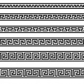 illustration of different greek ornament patterns