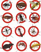 image of cockroach  - warning sign - JPG