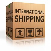 international delivery worldwide shipment of online package order from internet webshop, webshop ico