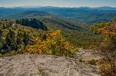 stock photo of asheville  - Blue Ridge Parkway Scenic Mountains Overlooking beautiful landscapes - JPG