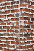 foto of mortar-joint  - A brick wall with mortar extruding from joints good for background or texture - JPG