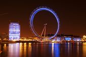LONDON, ENGLAND - MARCH 15: London Eye on March 15th, 2013 in London. The 135 meter landmark is a gi